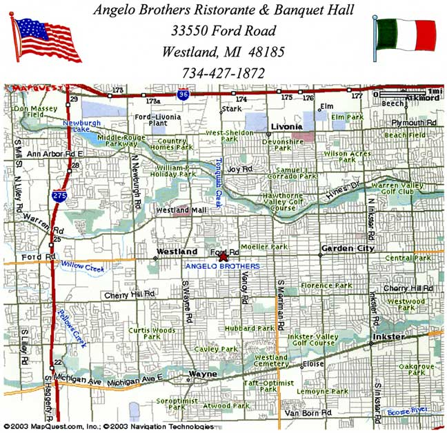 Angelo Brothers is conveniently located on Ford Rd between Wayne Rd and Venoy Rd in Westland, MI.